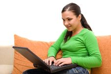 Free Woman With Laptop Royalty Free Stock Photography - 5798767