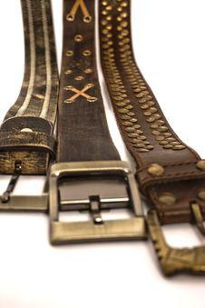 Free Stylish Belts Royalty Free Stock Photo - 5798815