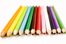 Free Color Sharp Pencils Royalty Free Stock Images - 5798979