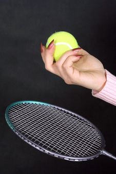 Free Ball And  Racket Royalty Free Stock Photos - 5799428