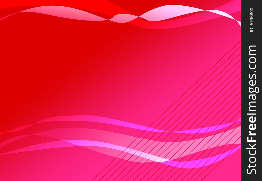 Vector image of red and pink ribbons