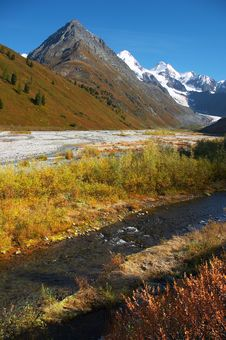 Clear River And Mountains. Royalty Free Stock Images