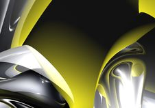 Free Black&yellow Background (abstract) 01 Royalty Free Stock Images - 581559