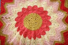 Free Crocheted Sunflower Royalty Free Stock Photos - 581728