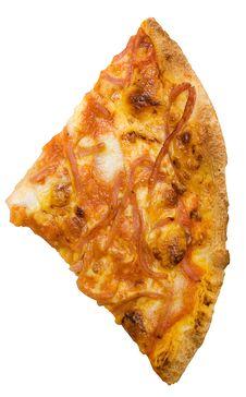 Free Slice Of Ham Pizza W/ Path Stock Photography - 582162