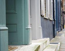 Free Edwardian Doorways Royalty Free Stock Photo - 582535