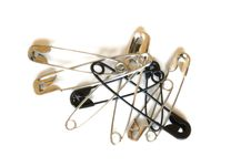 Safety Pins Royalty Free Stock Photos