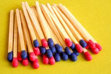 Free Blue And Red Matches Royalty Free Stock Images - 582859