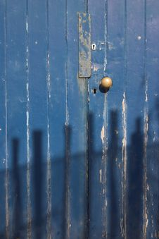 Free Through The Blue Door... Royalty Free Stock Photos - 582988