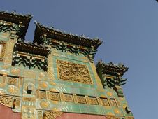 Free Colourfull Details On Beijing Shrine Stock Photography - 583112