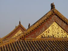 Free Beijing China - Glowing Roof Royalty Free Stock Photos - 583118