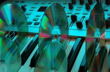 Free Music Home Studio (cyan) Stock Photo - 583350