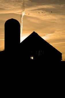 Free Barn At Dusk Stock Image - 583641