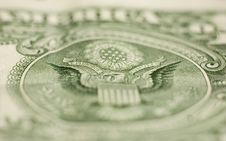 US Dollar Note Macro: E PLURIBUS UNUM (one Of Many) Stock Photo