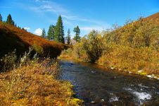 Free Clear River And Blue Sky. Royalty Free Stock Photography - 584257