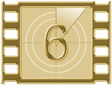 Free Film Countdown Royalty Free Stock Photos - 584988