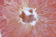Fresh Pink Grapefruit Detail Stock Photo