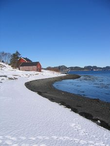 Free Winter Bay Royalty Free Stock Image - 585516