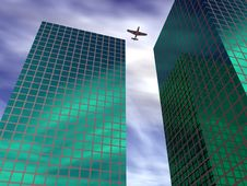 Free Aircraft In The City Royalty Free Stock Images - 585789