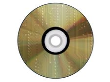 Cdrom Made From An Electronic Scheme Royalty Free Stock Image