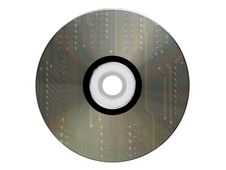 Cdrom Made From An Electronic Scheme Royalty Free Stock Photography
