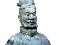 Free Terracotta Soldier.Isolated Stock Images - 586374