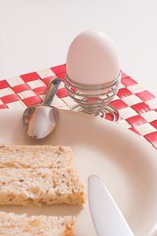 Free Egg For Breakfast Over White Stock Photo - 586500