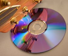 Free Guitar Reflection In CD Stock Photos - 586543
