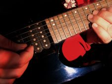 Free Electric Guitar Being Played Stock Image - 586691