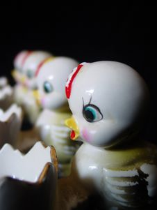 Free Row Of Chicks Stock Images - 588414