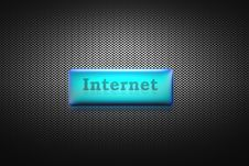 Free Internet Button Royalty Free Stock Images - 589069