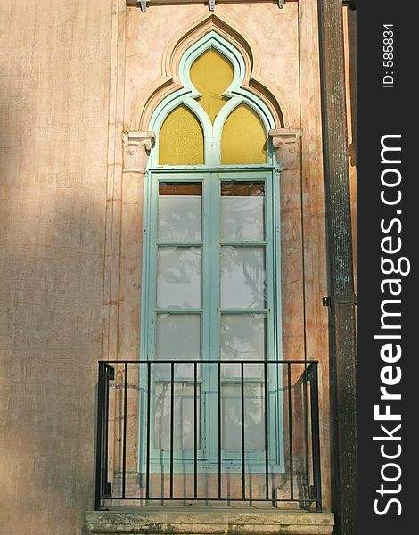 Window on old Spanish building