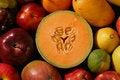 Free Sliced Cantaloupe, Whole Fruit Stock Image - 5800831