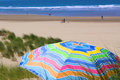 Free Colorful Umbrella On The Beach Royalty Free Stock Photography - 5802697