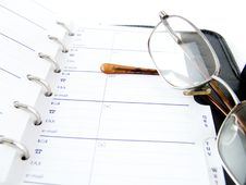 Free Notebook And Glasses Stock Photography - 5800162
