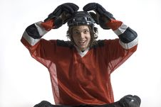 Free Hockey Player With Hands On Head - Horizontal Stock Photo - 5801070