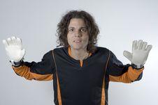 Free Goalie Posing-Horizontal Royalty Free Stock Photo - 5801095