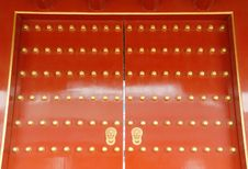 Chinese Red Door Royalty Free Stock Photos