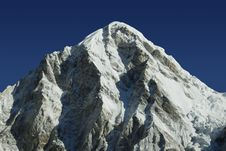 Mt. Pumori In The Himalayas Royalty Free Stock Images