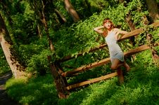 Free Pretty Girl In Woods Royalty Free Stock Images - 5802069
