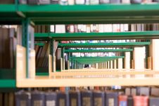 Free Library Interior Stock Photography - 5802992