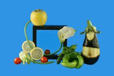 Free Salad And Framework Royalty Free Stock Photos - 5803038