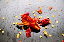 Crushed Dry Red Pepper Royalty Free Stock Photos
