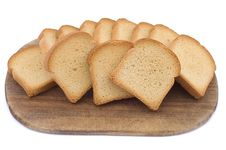Free Pieces Of Toast On A Wooden Hardboard Stock Photos - 5804813