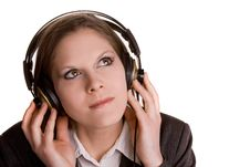 Free Girl With Headphones Royalty Free Stock Images - 5804999