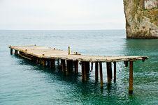Free Pier At Sea Royalty Free Stock Image - 5805026