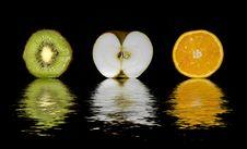 Free Kiwi Apple Orange Stock Photography - 5805772