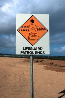 Lifeguard Sign 2 Royalty Free Stock Photos