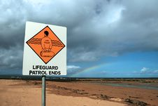 Lifeguard Sign 7 Stock Photo