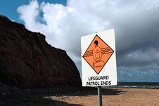 Free Lifeguard Sign 8 Royalty Free Stock Photo - 5806015